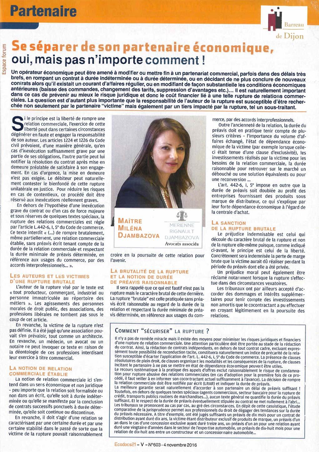 article-de-me-djambazova-ecodocs-se-separer-de-son-partenaire-economique